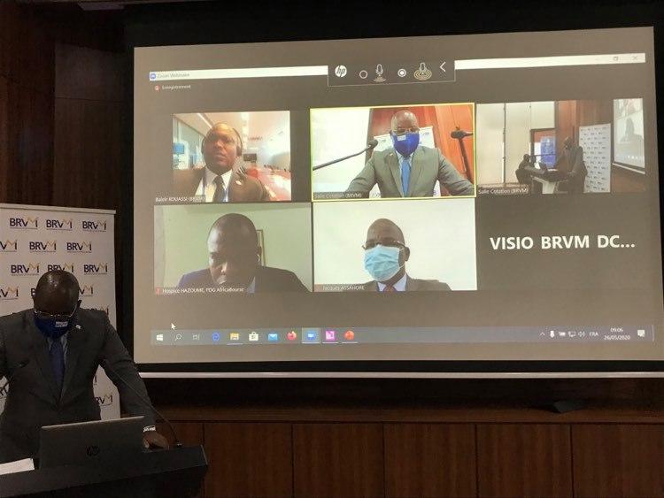la-brvm-realise-sa-premiere-ceremonie-virtuelle-de-cotation-de-titres