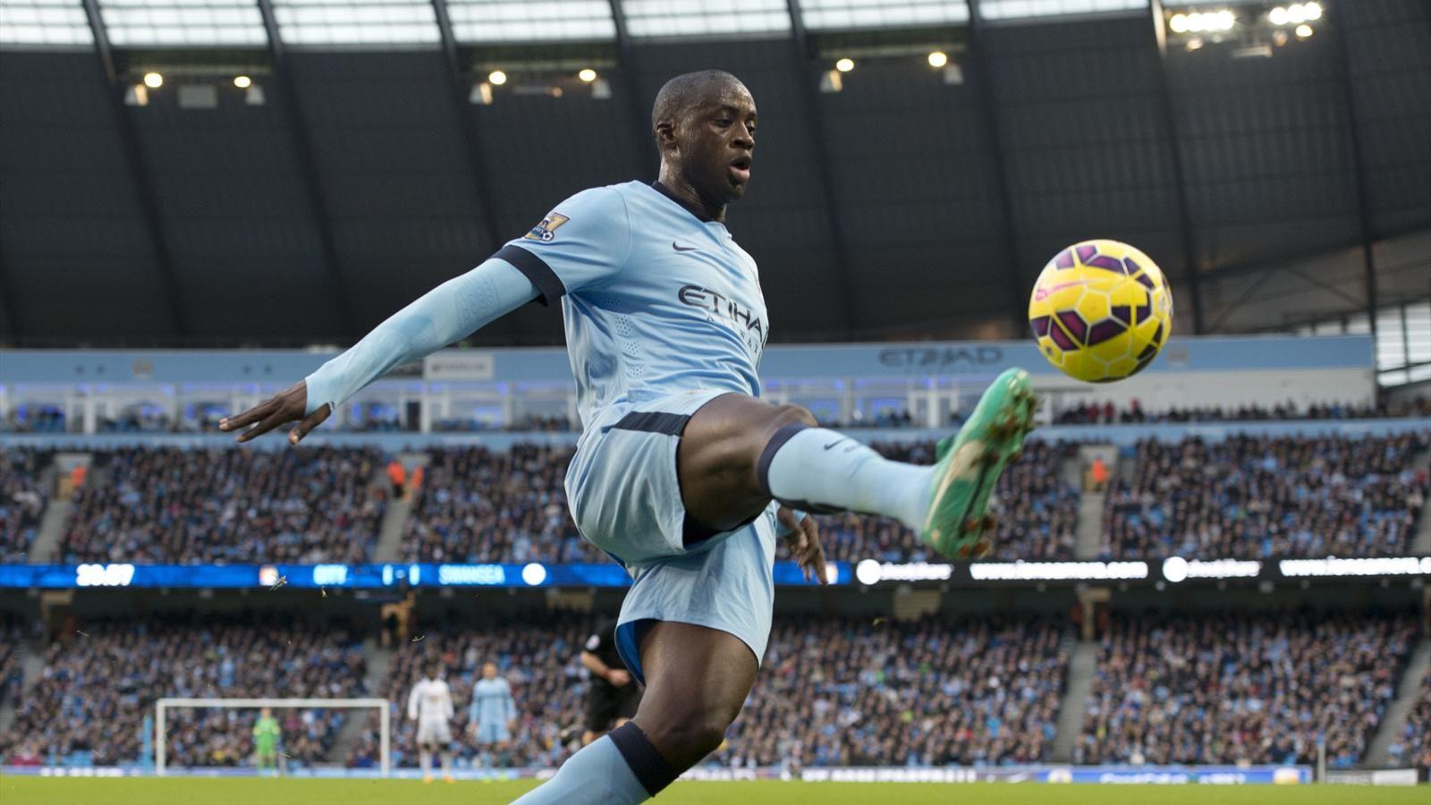 Football.,Yaya Touré,Didier Drogba,Manchester City