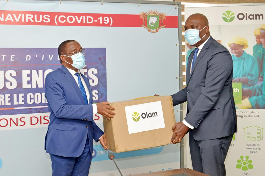 Olam International,Olam en Côte d'Ivoire,Covid-19,don,ministère de la Santé