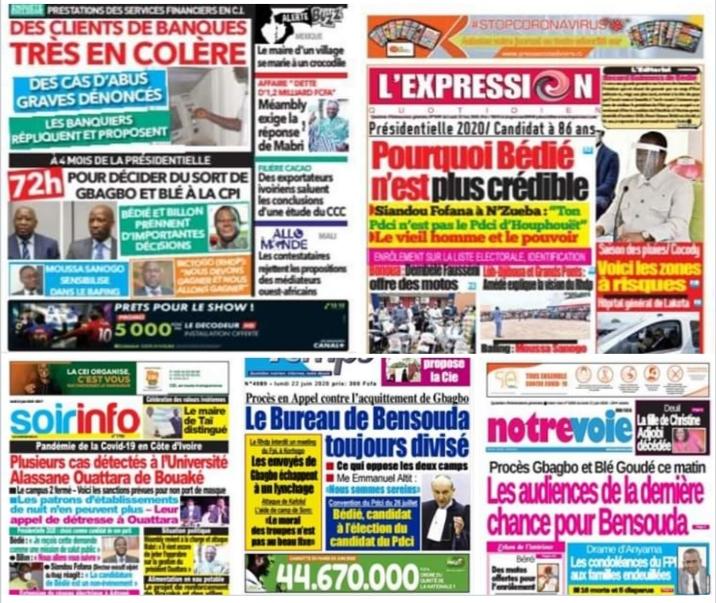 Revue de presse,Bédié,PDCI-RDA,PDCI,Fatou Bensouda,Laurent Gbagbo,Blé Goudé,CPI