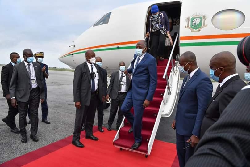 Retour Amadou Gon Coulibaly,Alassane Ouattara,Contrôle médical