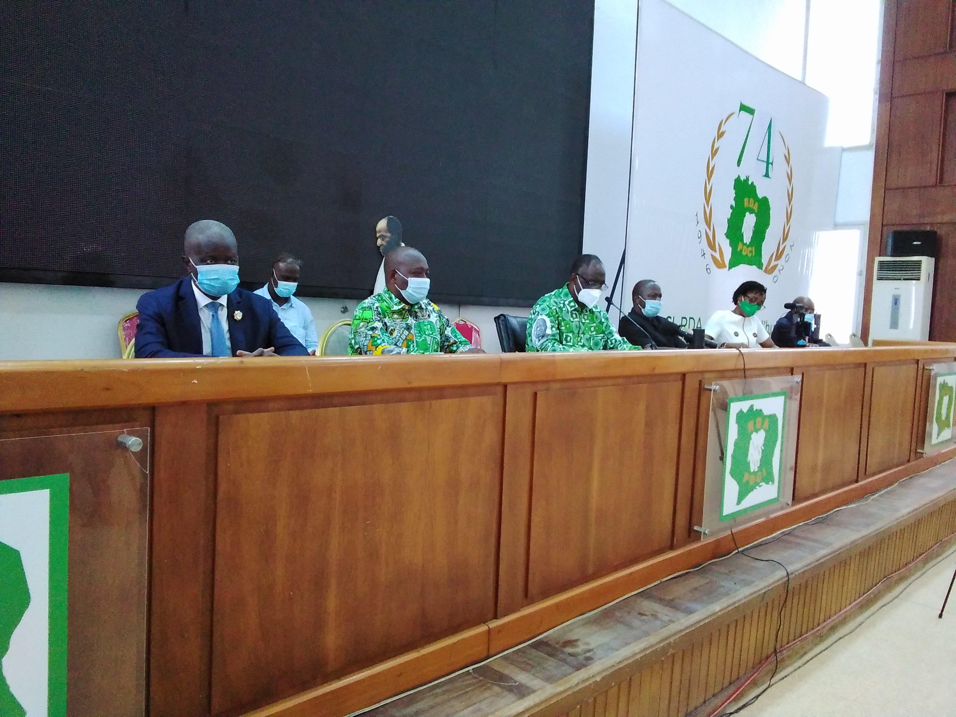 PDCI,Convention,Maurice Kakou Guikahué,Henri Konan Bédié