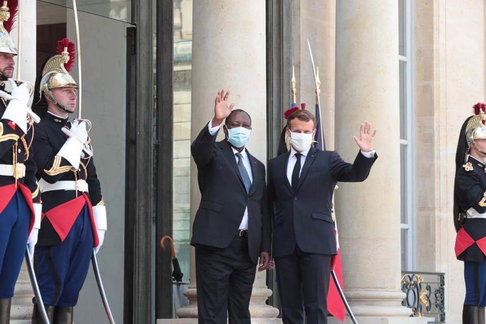 France,Alassane Ouattara,Emmanuel Macron,Ouattara,Macron