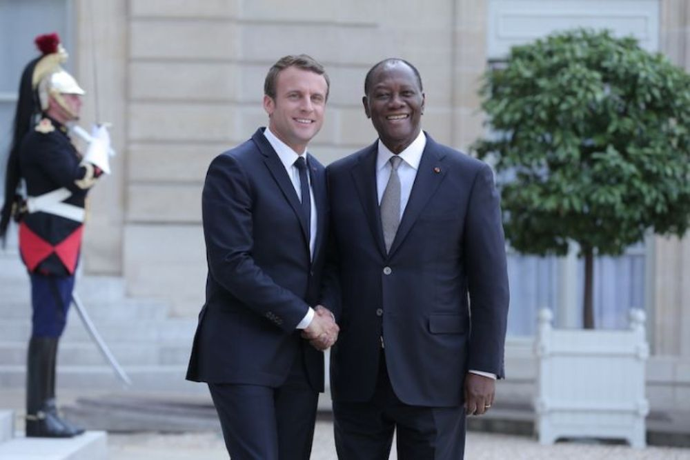 Alassane Ouattara,Emmanuel Macron