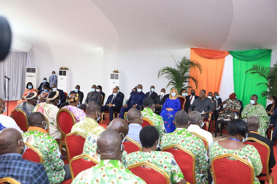Visite dans le Moronou,Rencontre Ouattara-Populations