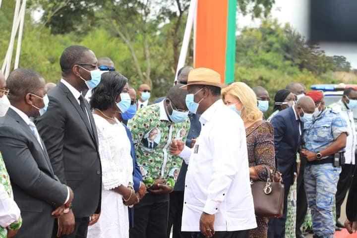 Visite d'Etat dans le Moronou,Alassane Ouattara,Président de la République,Meeting de M'Batto