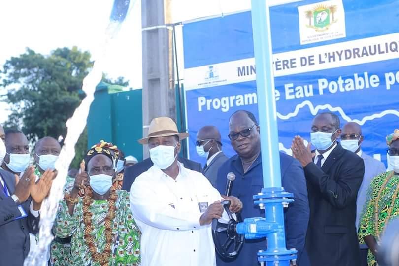 Eau potable, Moronou, Alassane Ouattara,  Bongouanou,