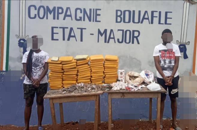 Drogue et stupéfiant,Gendarmerie,Bouaflé