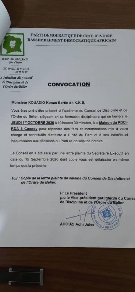 pdci-rda-pour-quotatteinte-a-lunite-du-partiquot-kkb-convoque-devant-le-conseil-de-discipline