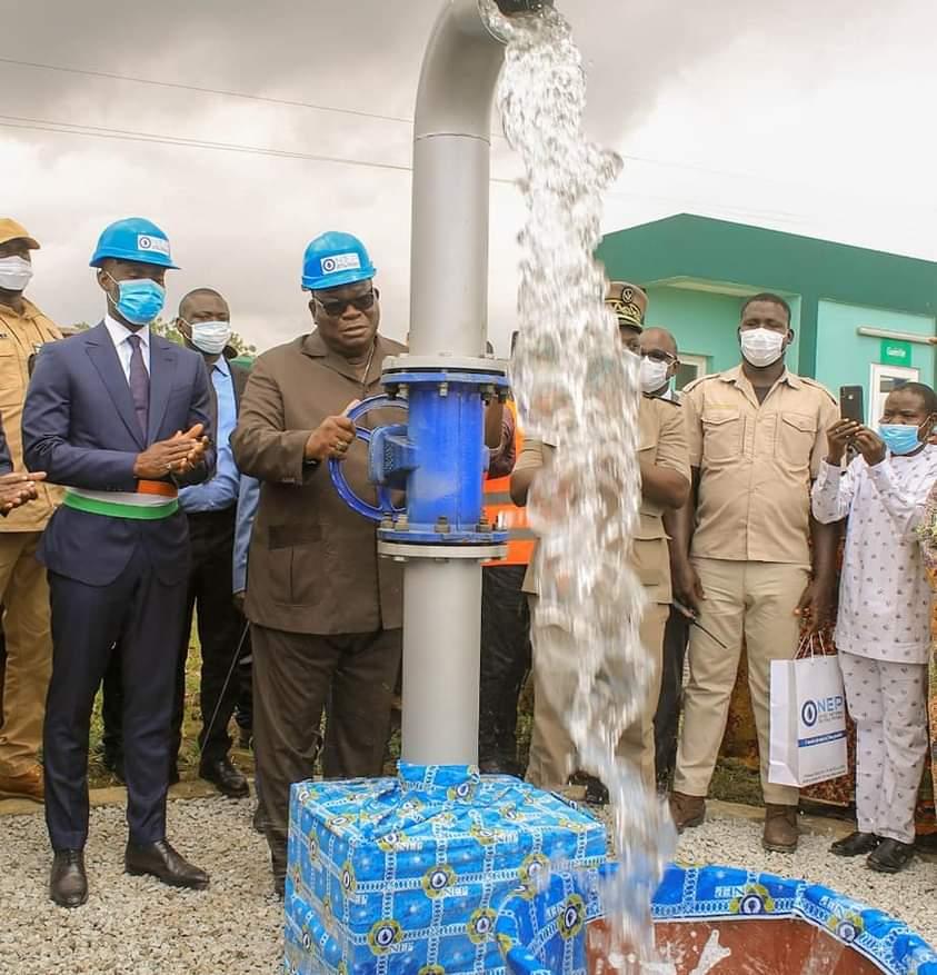 Eau potable pour tous,ministère de l'hydraulique,Laurent Tchagba,Bingerville