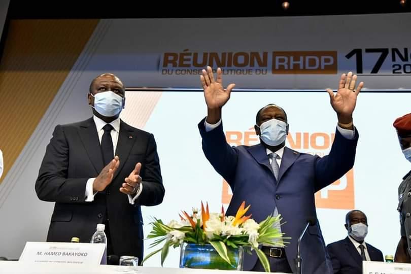 RHDP,bureau politique,Alassane Ouattara,communiqué final