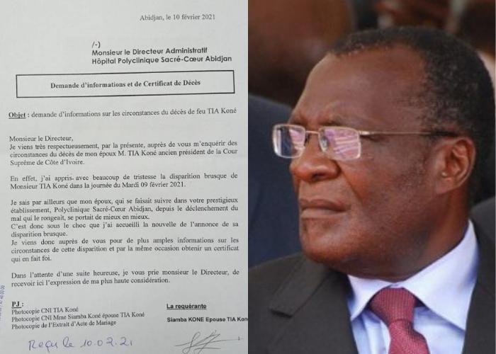 Côte d'Ivoire-Scandale/ Qui a déposé le corps du magistrat Tia Koné à Ivosep ? Sa femme très en colère