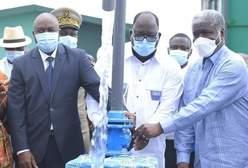 Ministre de l'hydraulique, Laurent Tchagba, ministre de l'administration du territoire, Sidiki  Diakité,