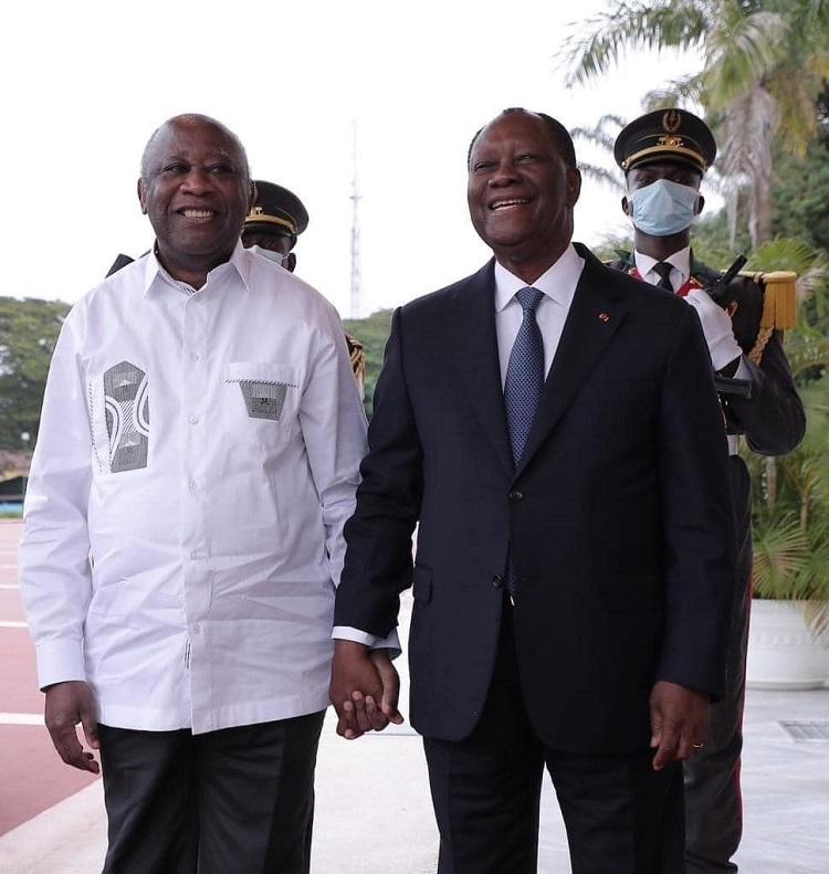 decrispation-ouattara-accueille-laurent-gbagbo-bras-ouverts-au-palais-presidentiel